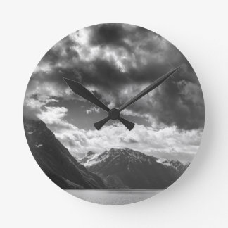 Mountains Round Clock