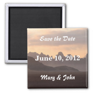 Mountains Save the Date Magnet