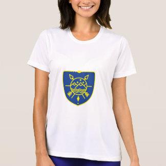 Mountains Sea Stars Crest Mono Line T-Shirt