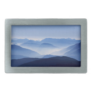 Mountains silhouette belt buckle