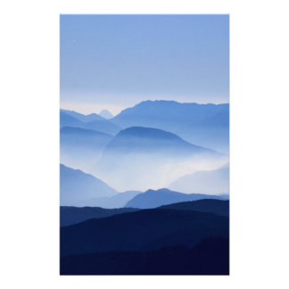 Mountains silhouette stationery