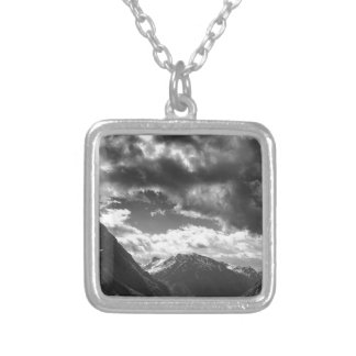 Mountains Silver Plated Necklace
