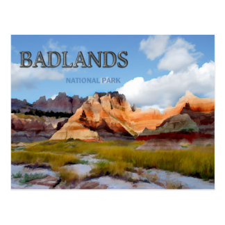 Mountains & Sky in the Badlands National Park Postcard