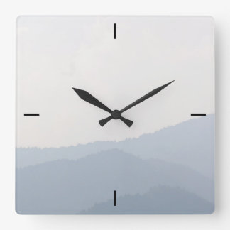 Mountains Square Wall Clock