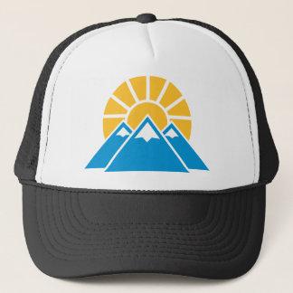 Mountains sun trucker hat