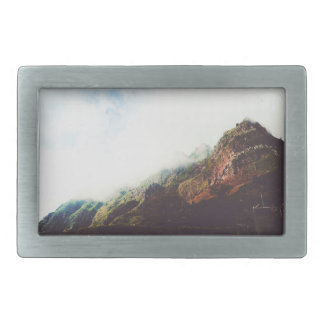 Mountains Wanderlust Adventure Nature Landscape Rectangular Belt Buckle