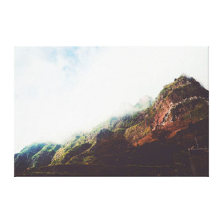 Mountains Wanderlust, Relaxing Nature Landscape Canvas Print