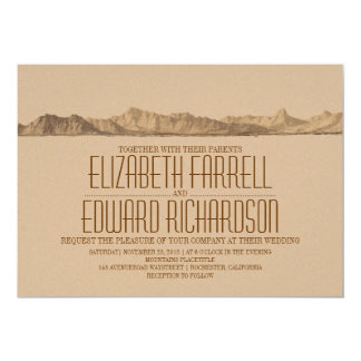 "Mountains wedding invitation 5"" x 7"" invitation card"