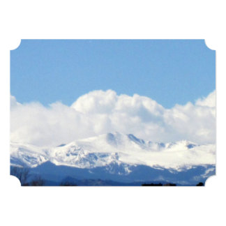 "Mountains Wedding Invitations 5"" X 7"" Invitation Card"