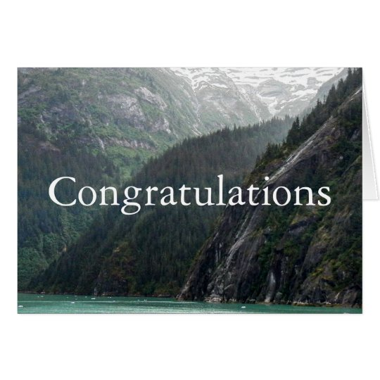 Mountainscape Congratulations Card