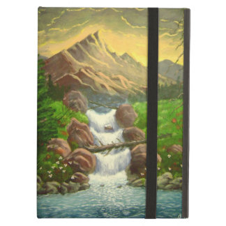 Mountainside Splash Acrylic Landscape Painting iPad Air Cases