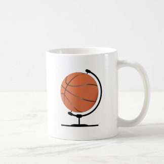Mounted Basketball On Rotating Swivel Coffee Mug