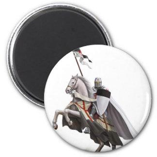 Mounted Knight Templar Magnet