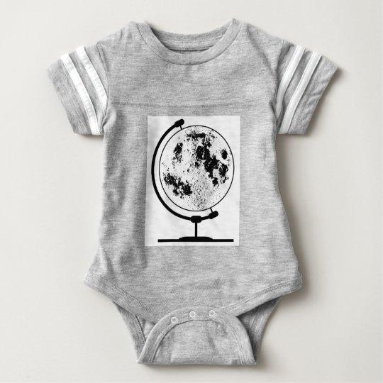 Mounted Lunar Globe On Rotating Swivel Baby Bodysuit