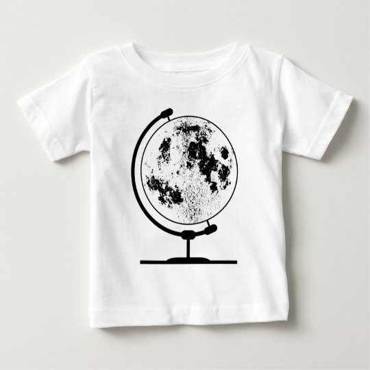 Mounted Lunar Globe On Rotating Swivel Baby T-Shirt