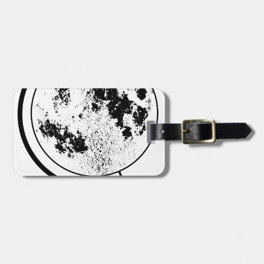 Mounted Lunar Globe On Rotating Swivel Bag Tag