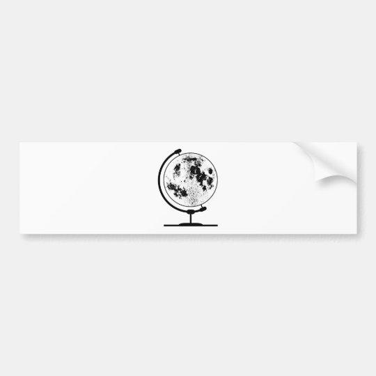 Mounted Lunar Globe On Rotating Swivel Bumper Sticker