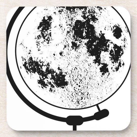 Mounted Lunar Globe On Rotating Swivel Coaster