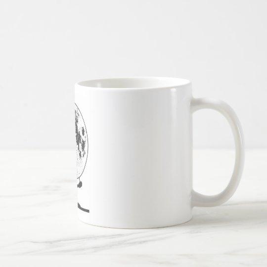 Mounted Lunar Globe On Rotating Swivel Coffee Mug