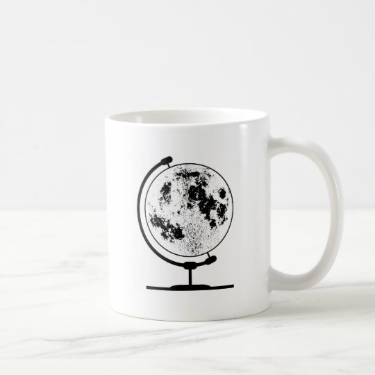 Mounted Lunar Globe On Rotating Swivel Coffee Mug