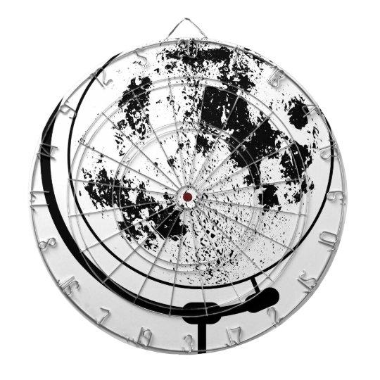 Mounted Lunar Globe On Rotating Swivel Dartboard