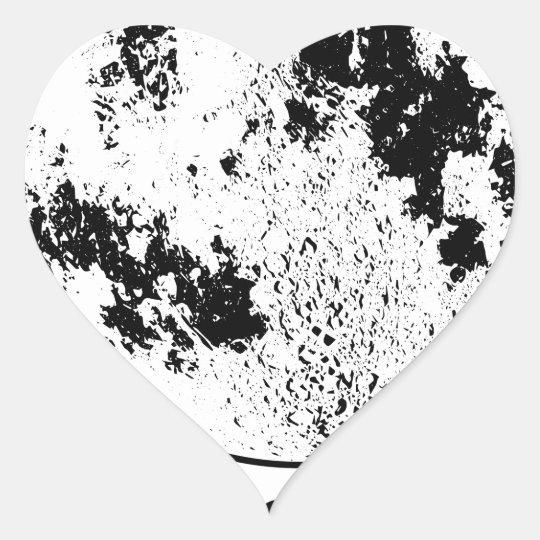 Mounted Lunar Globe On Rotating Swivel Heart Sticker