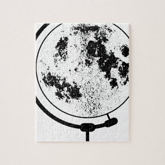 Mounted Lunar Globe On Rotating Swivel Jigsaw Puzzle
