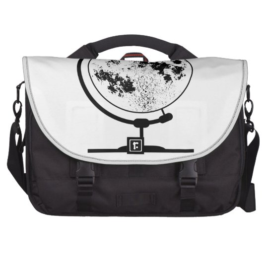 Mounted Lunar Globe On Rotating Swivel Laptop Shoulder Bag
