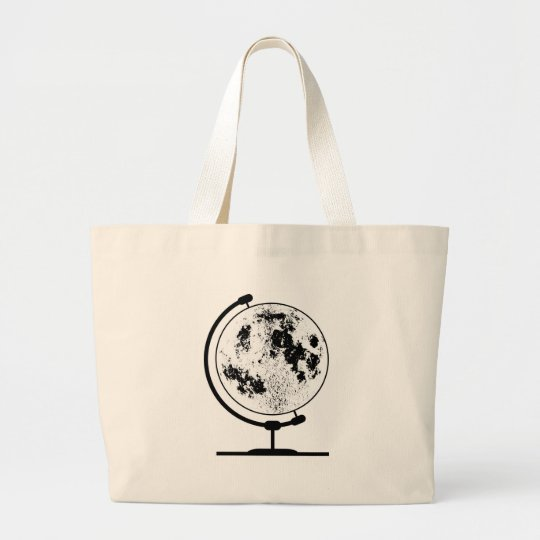 Mounted Lunar Globe On Rotating Swivel Large Tote Bag