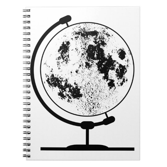 Mounted Lunar Globe On Rotating Swivel Notebooks