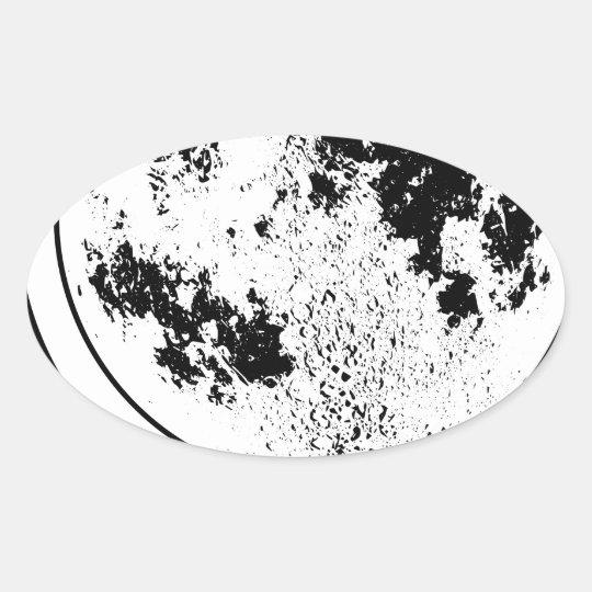 Mounted Lunar Globe On Rotating Swivel Oval Sticker