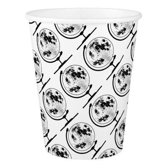 Mounted Lunar Globe On Rotating Swivel Paper Cup