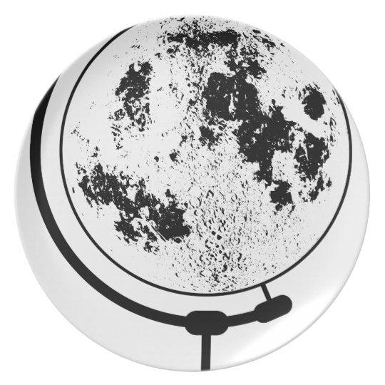 Mounted Lunar Globe On Rotating Swivel Plate