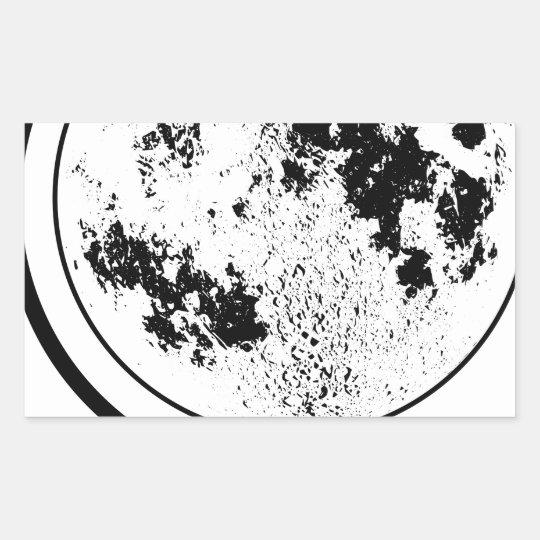 Mounted Lunar Globe On Rotating Swivel Sticker