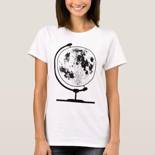 Mounted Lunar Globe On Rotating Swivel T-Shirt