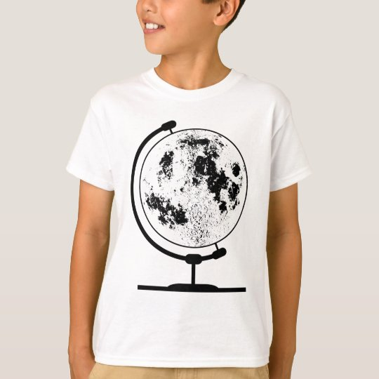 Mounted Lunar Globe On Rotating Swivel T-Shirt