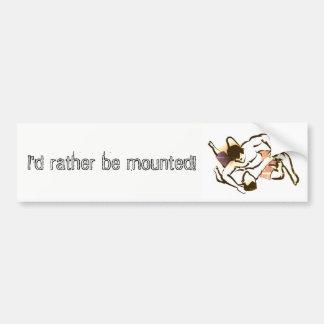 Mounted Sticker Bumper Sticker