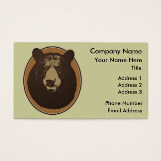 Mounted Taxidermy Bear Head Business Card