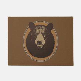 Mounted Taxidermy Bear Head Graphic Doormat