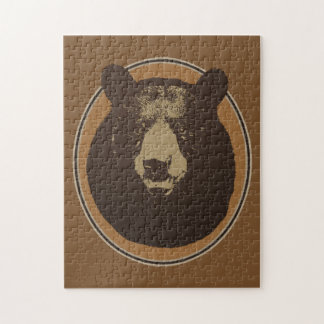 Mounted Taxidermy Bear Head Graphic Jigsaw Puzzle