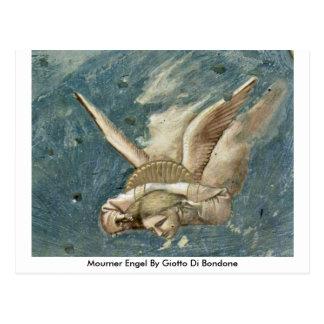 Mourner Engel By Giotto Di Bondone Postcard