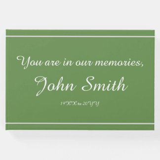 Mournful and Plain Condolences Guestbook