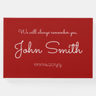 Mournful and Plain Memorial Guestbook