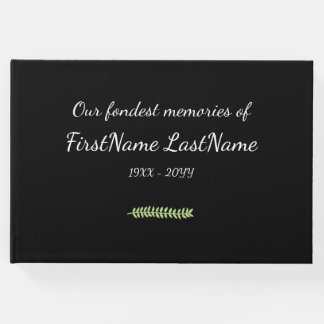 Mournful and Simple Memorial Guestbook