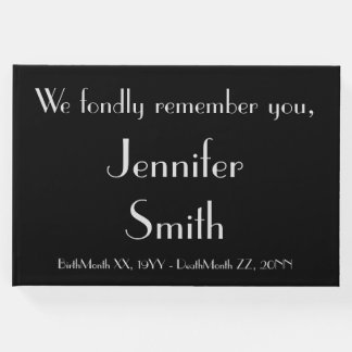 Mournful & Basic Memorial Guestbook