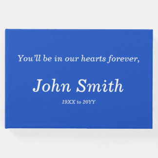 Mournful & Customized Memorial Guestbook