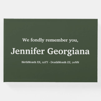 Mournful & Personalized Condolences Guestbook