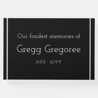 Mournful, Personalized Memorial Guestbook