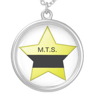 Mourning badge necklace