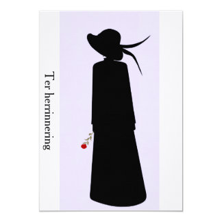 "Mourning card 5"" x 7"" invitation card"